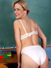 Where Hot teacher strips nude