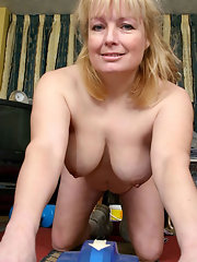 Nude blonde mature women